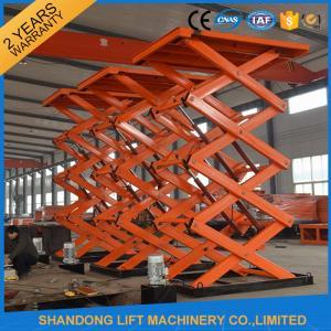 Quality Adjustable Hydraulic Stationary Warehouse Mechanical Scissor Lift , Hydraulic Scissor Lift wholesale