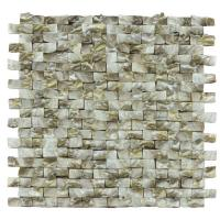 Quality Golden Diamond Shell Mosaic Tile For Bathroom Wall Panels 3D Glossy Surface wholesale