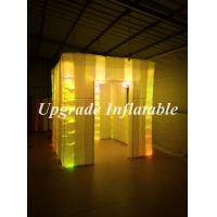 Quality portable cube photo booth inflatable tents sale with changing color led lights wholesale