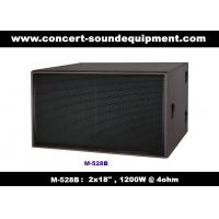 "Quality Nightclub Sound Equipment / 2x18"" Direct Reflex 4ohm 1200W Subwoofer For Concert , Disco Living Event  And Show wholesale"