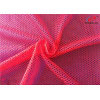 China Customized Knit Big Hole Sports Mesh Polyester Fabric For Women Clothing on sale