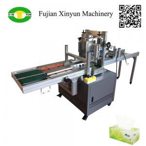 China Semi automatic facial tissue paper carton box packing machine on sale