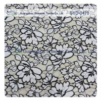 Quality Normal Dyeing Two Tone Cotton Nylon Lace Fabric Flower Fabric For Women Garment wholesale