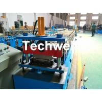 Quality Aluminium , PPGI Standing Seam Cold Roll Forming Machine With Hydraulic Cutting Type wholesale