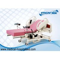 Quality Remote Controller Medical Maternity Bed With Telescopic Working Table wholesale