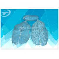 China Blue Hospital Shoe Covers Disposable , Fabric Anti Skid Shoe Covers on sale