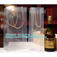 Transparent Plastic PP Shopping Handle Bag with Handle,clear white nylon handle PP/ PVC plastic bag for food packaging