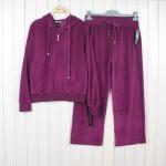Quality wholesale women's yoga velvet sportwear suits girl's casual athletics clothing sets female zipper hoodie jackets wholesale