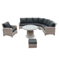 Quality 7 Seats 1.2mm Thickness Aluminum Tube Garden Rattan Sectional Sofa wholesale