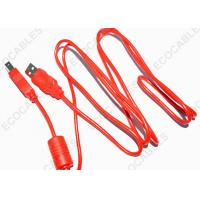 Quality Red USB Extension Cable Ferrite Core Printer Extension AM To BM UL2725 28AWG wholesale