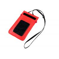 Quality Nylon / TPU Small Red WaterProof Dry Bags for Protect Mobile Phone when diving for sale