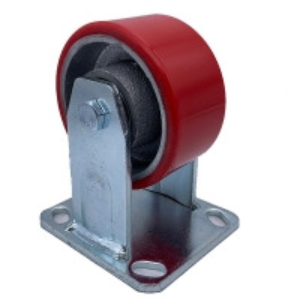 China 4 Inch Polyurethane Tread Cast Iron Rigid Caster on sale
