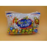 Quality Fruit Flavors Brochette Sugar Free Peppermint Candy / Round Shape Compressed Candy wholesale