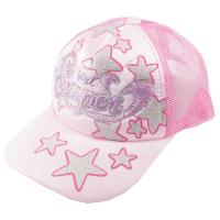 Quality 5 / 6 Panels Embroidery Pink Ladies Baseball Caps , Azo-Free Pantone Hats For Women wholesale