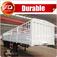 Quality Shandong Fudeng 3 axles Sugarcane Loading Cargo Trailer 40T Fence Semi Trailer for sale wholesale