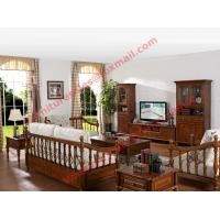 Quality Solid Wooden Carving Frame with Fabric Upholstery Sofa Set in Living Room Set wholesale