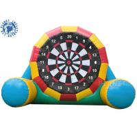 Quality 4.5mh Giant Inflatable Football Game / Double Sides Blow Up Soccer Dart Board wholesale