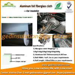 Quality Aluminum foil coating fiberglass cloth car heat insulation wholesale