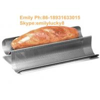 China French Bread Pan Perforated metal Tray/aluminum alloy perforated baking tray on sale