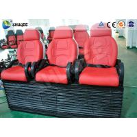 Quality Red Color Luxury Seats 5D Movie Theater For Mobile Truck / Museum / Park wholesale