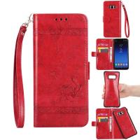Cheap Oil Wax Leather 2 In 1 Wallet Case For Samsung S8 Plus Scratch Resistant for sale