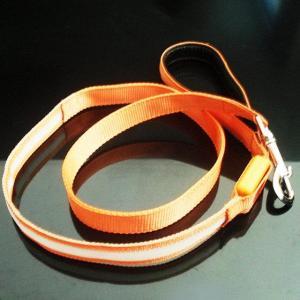 Quality Yellow Nylon LED Flashing Dog Leash wholesale
