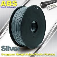 Quality High strength ABS 3d Printer Filament 1.75mm Silver Filament Materials wholesale