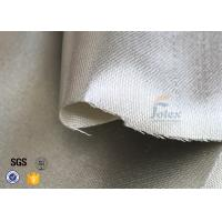 Cheap 800℃ 700g 0.8mm Silver Coated High Silica Fabric Cloth For Heat Resistant for sale