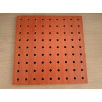 Quality Polyester Fiber Rock Wool Perforated Wood Acoustic Panels For Cinema / Museum wholesale