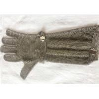 China SS Chain Mail Ring Mesh Cut Resistant Safety Gloves With Extended Length on sale