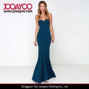 Quality Women Latest Dress Design Pure Color Strapless Bodycon Maxi Cocktail / Prom Dress wholesale