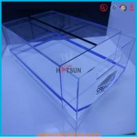 Quality high quality plexiglass shoe box for package,wholesale custom clear acrylic shoe box hupbox sneaker display box wholesale