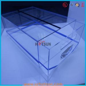 Quality high quality plexiglass shoe box for package,wholesale custom clear acrylic shoe box hupbox sneaker display box wholesale