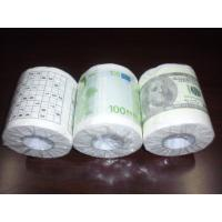 Quality Dollar printed toilet paper 250 sheets 100% virgin pulp money toilet tissue wholesale