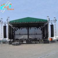 China PVC Aluminum Lighting Truss Outdoor Concert Stage 60m Span Width on sale