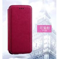Quality Pink Iphone 6 Plus Leather Wallet Case , Book Cover Protective Magnetic Leather Case wholesale
