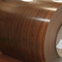 China Wood Imitation Colored Galvanized Steel For Prefabricated Huses Wall Panels on sale