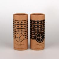 Buy cheap Customized Kraft Paper Tube Packaging With CMYK Printing / Pantone Color Printing product
