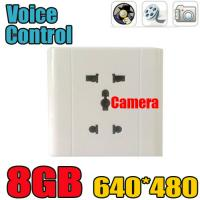 Quality Home Security Wall Socket Outlet DVR Spy Hidden Camera Surveillance Audio Video Recorder wholesale