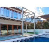 Quality Exterior Tempered Glass Railing Modern Design Terrace Use For Swimming Pool wholesale