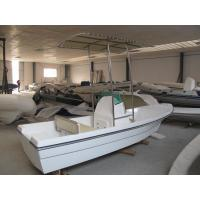 China Folding Canopy Small Fiberglass Fishing Boats Four Line Switch 4.2m With Double Seats on sale
