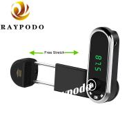 China FM Transmitter Bluetooth Receiver Fast Car Charger Phone Mount With USB Car Adapter on sale