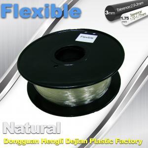 Cheap Transparent Rubber Flexible 3D Printer Filament Consumables 1.75mm / 3.0 mm for sale