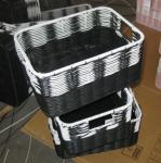 Quality China Manufacture Square Plastic Rattan Storage Basket/fruit basket/ sundry basket wholesale