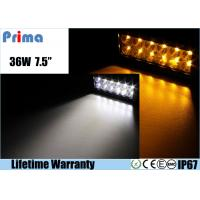 Quality 36W Remote Control LED Light Bar , Double Row Amber White Led Offroad Light Bar wholesale