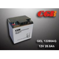 Quality 12V 28AH Gel Lead Acid Battery , EPS Vrla Rechargeable Battery Non Spillable wholesale