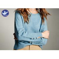 Quality Social Audit Sweater Supplier Womens Knit Pullover Sweater Cuff Slit Pearl Decoration wholesale