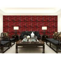 Cheap Home Wall European Style Wallpaper Contemporary Mural Leather 3D Wall Panel for Hotel / Office for sale