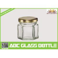 Quality Hot sales wholesale hexagon Honey cheap glass jars wholesale