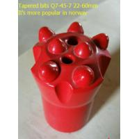 Quality Q7-45-7 22-60mm Tapered button drill bit for norway wholesale
